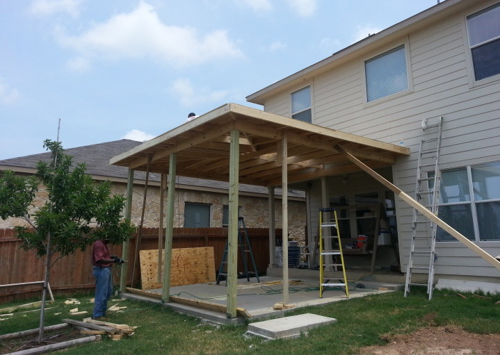 Patio cover construction 2